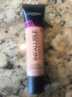 Loren Infallible full coverage makeup. 303 Nude Beige