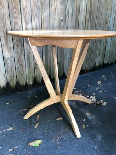 Tracery Interiors limed oak side table
