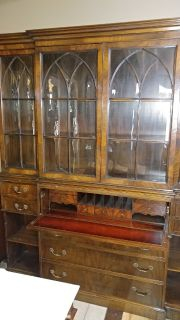 Antique Cathedral China Cabinet