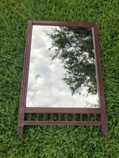 Antique mirror.