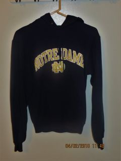 Unisex Notre Dame Navy Hoodie Sweatshirt by Champion Authentic Athletic Apparel