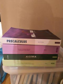 Precalculus and algebra college package
