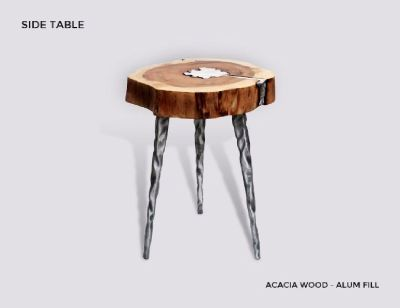 Buy Molten Wood Side Table Online