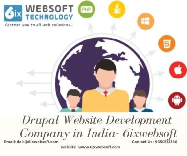 Drupal Website Development Company in India- 6ixwebsoft