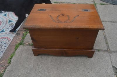 Small Vintage Solid Wood Storage Chest