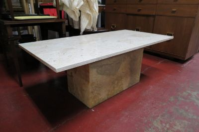 Vintage Mid century modern marble coffee table