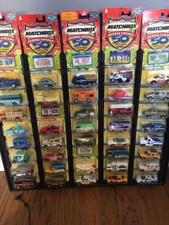 Matchbox Cars across America, new on display stand