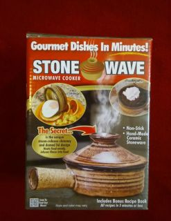 Made For TV StoneWave microwave cooker