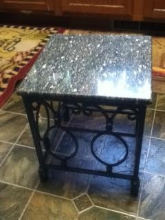 Marble & Iron Plant Stand