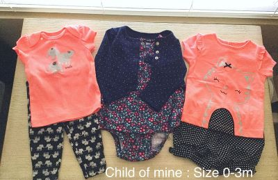 3 outfits size 0-3m