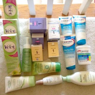Lot of Face Wash, Bar Soap, Veet, etc. - Unused and Never Opened