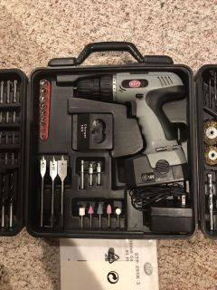 STP 91pc Tool set with 18 volt drill $30