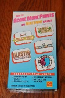 How To Score More Points On Nintendo Games VHS Kodak Video 1989