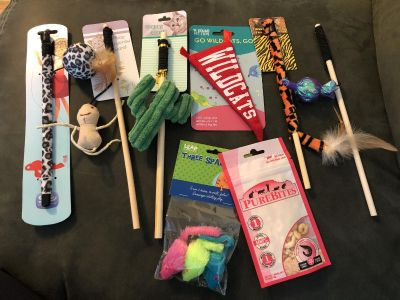 Lot of cat toys