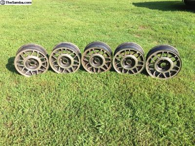 VW OEM 14 inch 5 Spoke Wheel 4x100 - set of 5