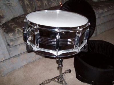 """$90 GP Groove Percussion Snare Drum 14"""" w Stand & Case"""