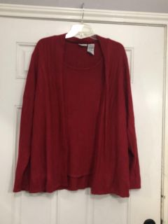 White stag red cardigan
