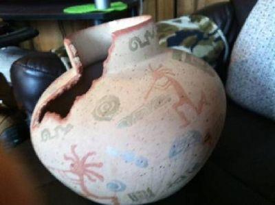 $125 native american vase