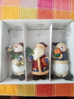 Christmas picture/card holders