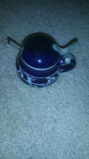Old sugar bowl with spoon, markings on bottom, great condition