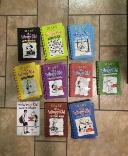 """HARDBACK - JUST SAT ON SHELF - """"DIARY OF A WIMPY KID"""" BOOKS. $8 EACHSELLS FOR $12.95/ $13.95 EACH GIFT GIFT"""