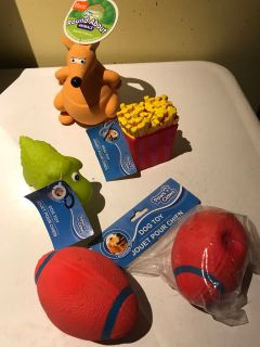 New dog squeaky toys, kangaroo is latex, others vinyl
