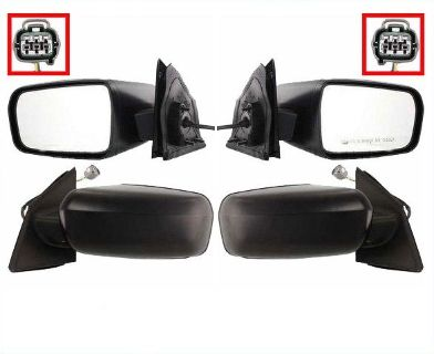 Sell KOOL-VUE Mirrors Pair Mitsubishi Galant 2004-2008 Power, Non-Heated, Non-Folding motorcycle in Macon, Georgia, US, for US $89.95