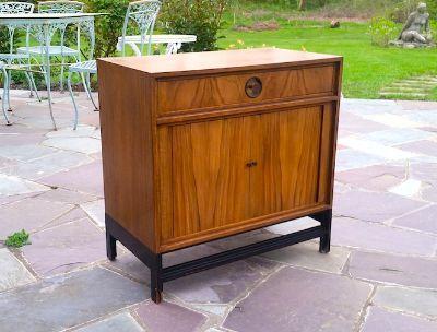Vintage Modern Baker Furniture Side Table/Cabinet
