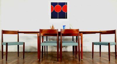 Stellar Danish Modern Mid Century Teak Dining Set