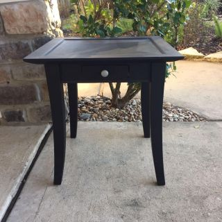 Heavy Solid Wood End Table