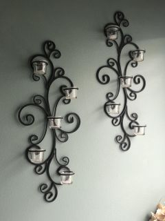 Set of Wall Mount Candle Holders