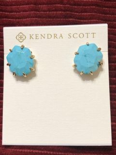 Kendra Scott! Brand new, never used, turquoise stud earrings, a perfect gift for her! $38!