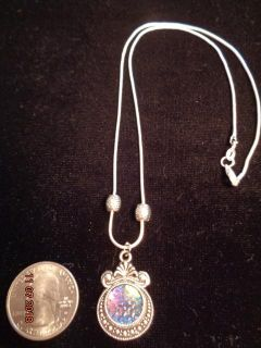 """925 Sterling Silver Necklace & """"Mermaid Scale"""" Pendant"""