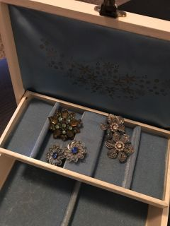 Vintage jewelry & jewelry box - POMS *please read description for items priced individually