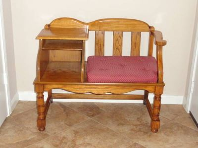 Oak Telephone Gossip Bench