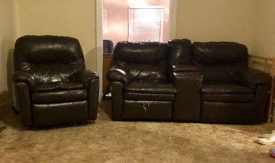Matching recliner and Love seat