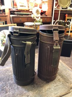 WWII German Gas Mask Canisters