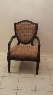 Solid wood arm chair, wide seat