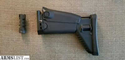 For Sale: FN Scar 17 factory stock and muzzle device