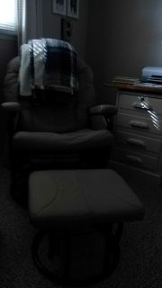 Chair and ottoman is good condition