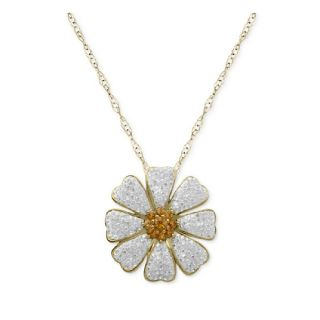 Daisy Flower Necklace 14K Tone