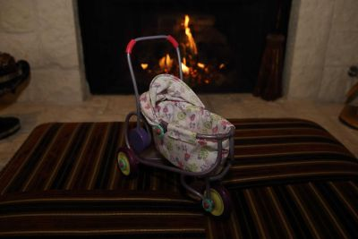 American girl bitty baby stroller (only) for 8 mini bitty doll (felicitys baby sister pollys stroller)- $25