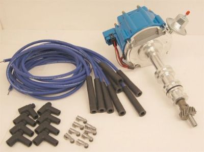 Purchase Ford 428 427 390 360 352 HEI Distributor Blue Cap & Blue Spark Plug Wire Kit motorcycle in Olathe, Kansas, United States, for US $134.93
