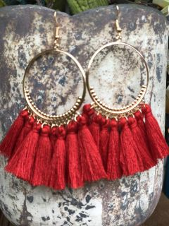 Brand New (Red) Earrings! I have (4) of these! Price for EACH. NO HOLDS FCFS