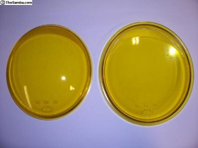 Split Oval Yellow European Headlight Lenses Smooth