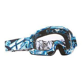 Find 2014 Fly Racing Zone Goggles Blue/White with Clear Lens *Free Shipping* motorcycle in Coloma, Michigan, US, for US $23.95