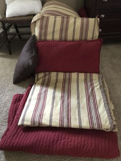 King size pottery barn bedding