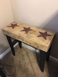 Rustic country star table