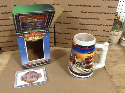 """2002 BUDWEISER """"Guiding the Way Home"""" Holiday Stein"""