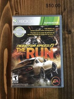 Need for Speed, The Run Xbox 360
